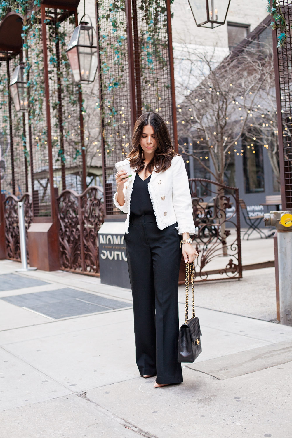 46bd0e5f131 White House Black Market WHBM Workwear Black and White Outfit Post What to  Wear to Work