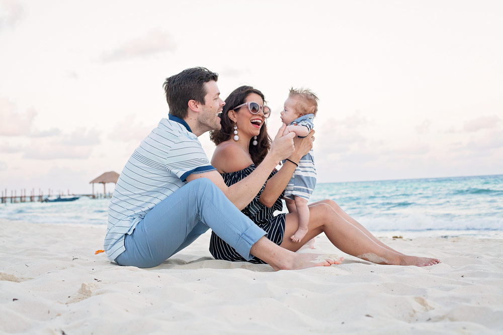 Mexico Vacation Family New Yorkers Easy Trip Beach Photo Baby Photo