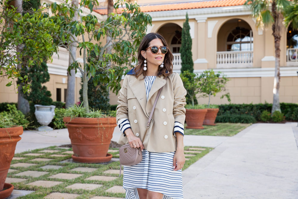H Halston Style Off The Shoulder Hi Low Striped Dress 5