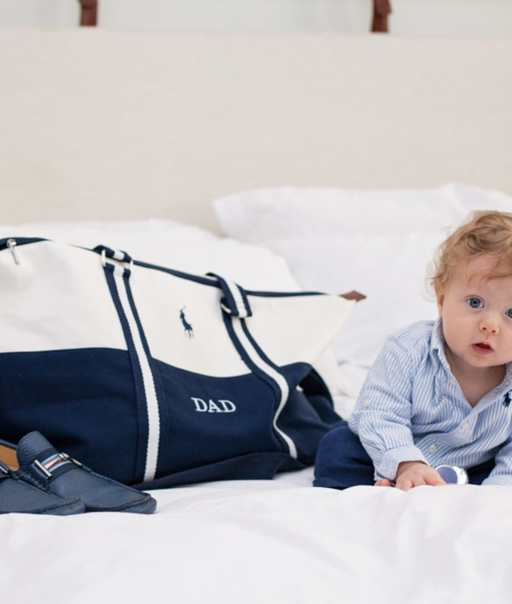 What to get your Husband for Father's Day Baby and Daddy Ralph Lauren Polo Duffle Bag