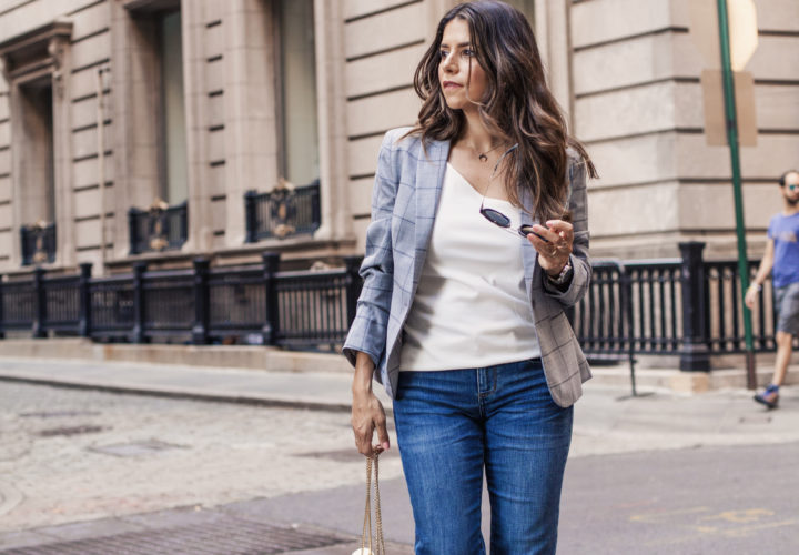 How To Wear an Off-the-Shoulder Top to the Office