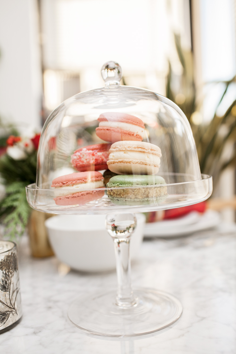 Macarons Marks u0026 Spencer cake stand & Marks and Spencer Holiday Table Setting Cashmere Sweater New York ...
