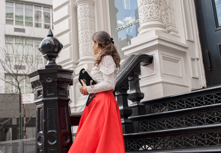 The Red Skirt You Need This Holiday Season