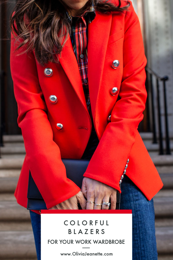 Colorful Blazers to Add to your Work Wardrobe | colorful workwear | office fashion | work outfits | color fashion | work fashion || Olivia Jeanette #workwear #fashion